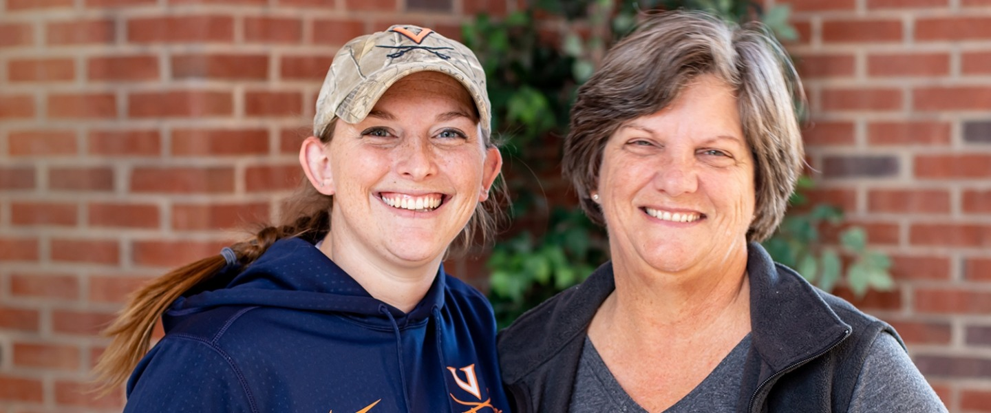 Ph.D. student Victoria Long (environmental sciences) and her mother, Terri Long.