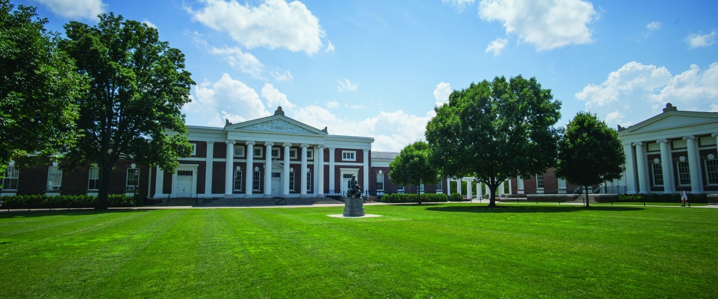 Old Cabell Lawn on Summer Day